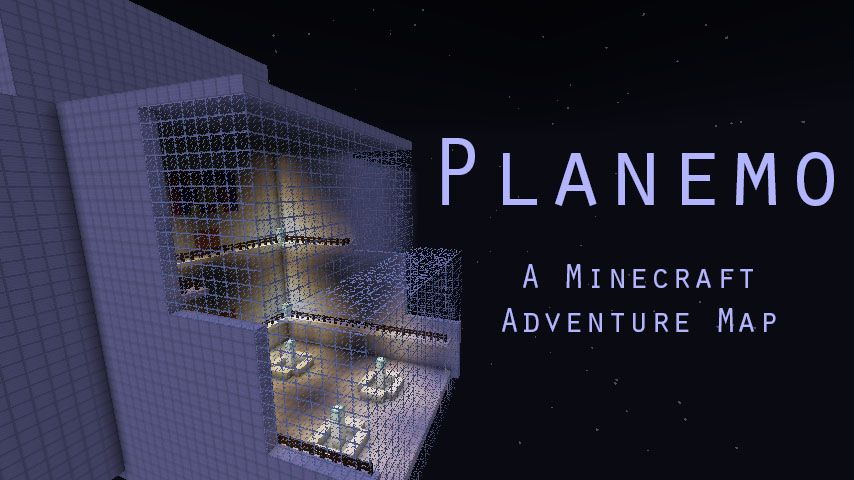 A posted for the map with an outside view of the spaceship and the map name editing onto it