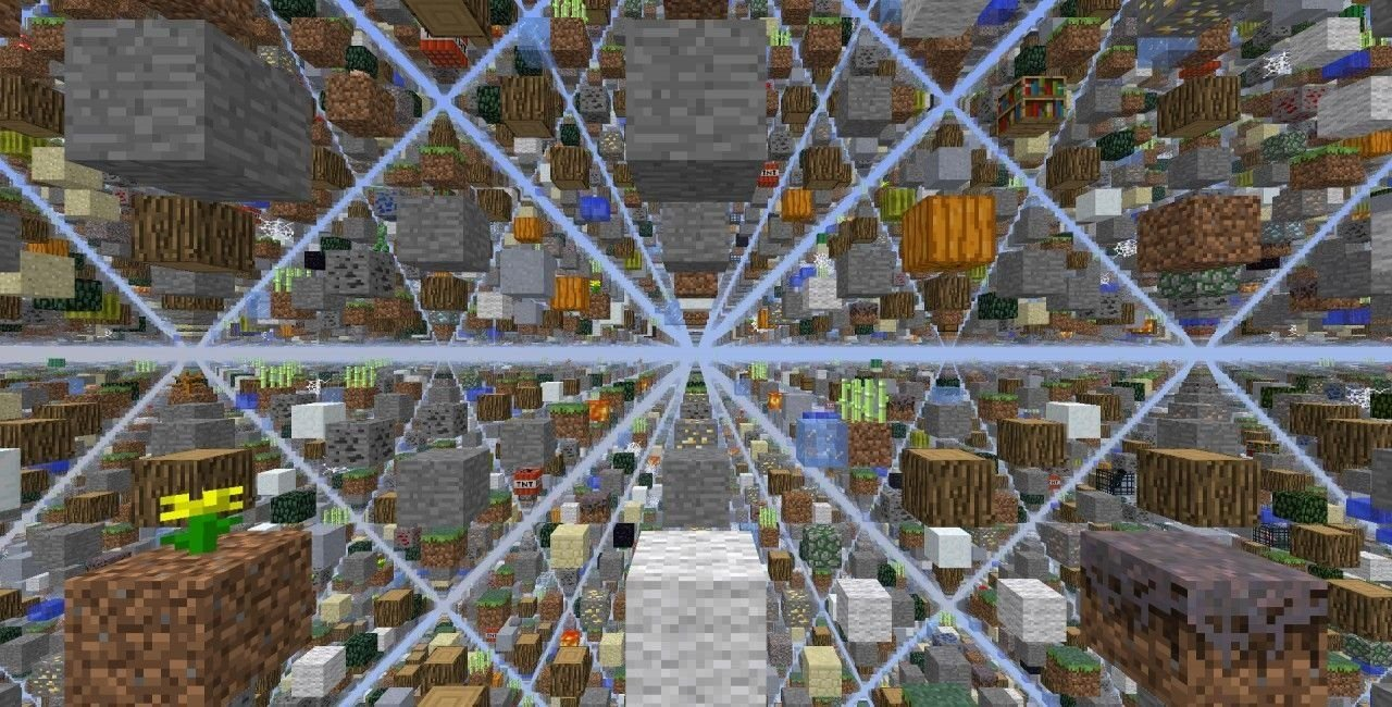 A screenshot of the map showing the blocks spaced apart to form a grid