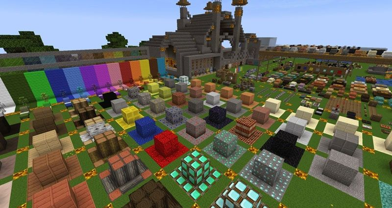A screenshot from a resource pack testing world with the PureDBcraft resource pack being used in game
