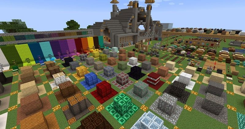 A screenshot from a resource pack testing world with the Jicklus resource pack being used in game