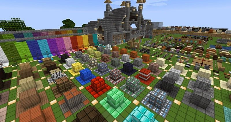 A screenshot from a resource pack testing world with the oCd Pack Vanilla being used in game